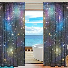 ALAZA Sheer Voile Curtains, Galaxy Polyester