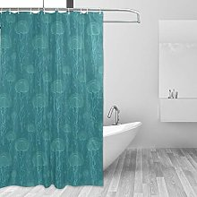 ALAZA Shower Curtain Fabric, Marine Life Jellyfish