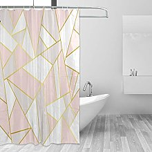 ALAZA Shower Curtain Fabric, Rose Gold Pink