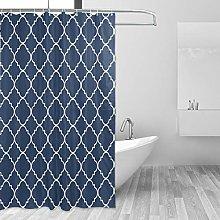 ALAZA Shower Curtain, Geometric Diamond Lattice