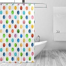 ALAZA Shower Curtain, Retro Geometric Pattern With