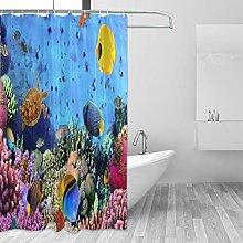 ALAZA Shower Curtain, Underwater World Coral Fish