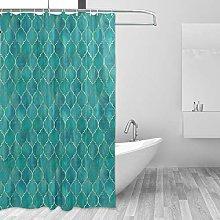 ALAZA Shower Curtain, Vintage Decorative Moroccan