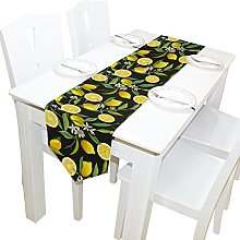 ALAZA Table Runner Home Decor, Stylish Yellow