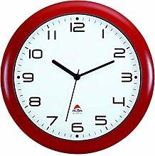 Alba HORNEW Silent Quartz Clock red