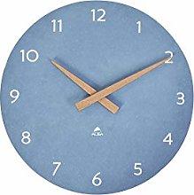 ALBA Wall Clock – Wood – Quartz – Silent –