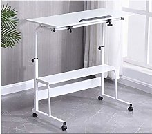 ALBBMY Laptop Table Rolling Laptop Table Lap Desk