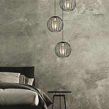 Albio 1 pendant light with cage lampshade black