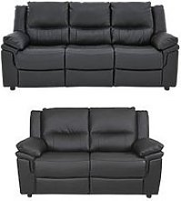 Albion Luxury Faux Leather 3 Seater + 2 Seater