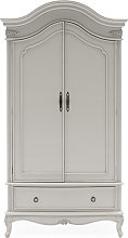 Albus Wooden Wardrobe In Painted Antique Grey