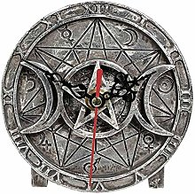 Alchemy Gothic England - Wiccan Desk Clock