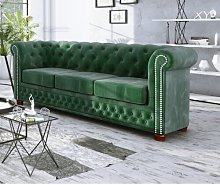 Alcide 3 Seater Chesterfield Sofa Ophelia & Co.