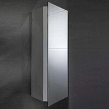 Alcove Corner Mirrored Bathroom Cabinet 300mm Wide