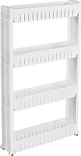 Alcove shelf with 4 levels - white
