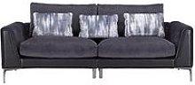 Alder Fabric/Leather 4 Seater Sofa