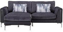 Alder Fabric/Leather Left Hand Chaise Sofa