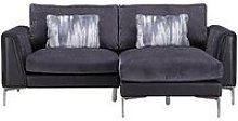 Alder Fabric/Leather Right Hand Chaise Sofa