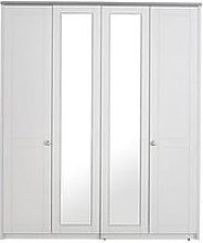 Alderley Part Assembled 4 Door Mirrored Wardrobe