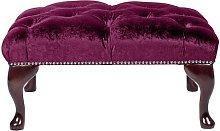 Aldo Footstool Willa Arlo Interiors Colour: Purple