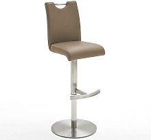 Alesi Gas Lift Bar Stool In Cappuccino With