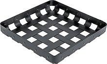 Alessi 51 x 51 x 8 cm Criss Cross Basket, Black