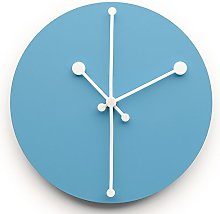 Alessi Dotty Wall Clock-Steel Coloured with Epoxy