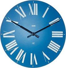 Alessi Firenze Wall Clock, Blue, (12 AZ)