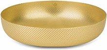 Alessi Round Basket, Brass, 21 x 21 x 5.5 cm