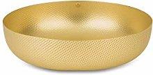 Alessi Round Basket, Brass, 24 x 24 x 7 cm