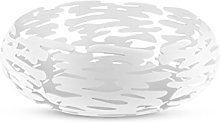 Alessi Round Basket, steel coloured with epoxy