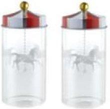 Alessi - Set of 2 Circus Spice Jars