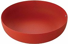 Alessi Textures & Colours Round Basket, Ø 24, red