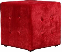 Alessia Pouffe Canora Grey Upholstery colour: Red