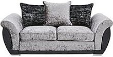 Alexa Fabric And Faux Leather 2 Seater Scatter