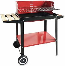 Algon Charcoal Barbecue with Wheels 58 x 38 cm