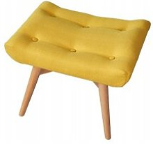 Ali Footstool Isabelline Upholstery Colour: Yellow