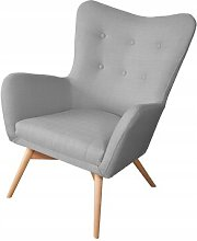 Ali Wingback Chair Isabelline Upholstery Colour: