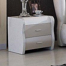 Alianfrwe Bedside Cabinet With 2 Drawers - Bedside