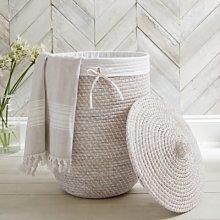 Alibaba Laundry Basket, White, One Size