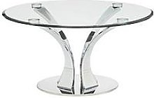 Alice Glass And Chrome Coffee Table