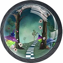 Alice in Wonderland with Trellis Mushrooms and
