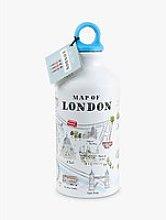 Alice Tait Map Water Bottle, 500ml, Multi