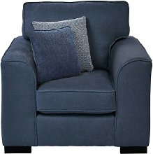 Alicea Armchair Brambly Cottage Upholstery: Navy