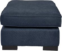 Alicea Footstool Brambly Cottage Upholstery: Navy