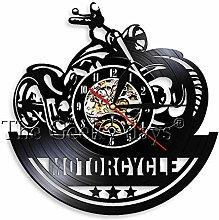 alicefen 1Piece Cafe Racer Clock Handmade Vinyl