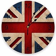 alicefen British British Flag Wall Clock Kitchen