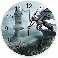 alicefen Dragon Wall Clock For Family Living Room