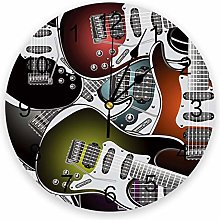 alicefen Electric Guitar Wall Clock Kitchen Home