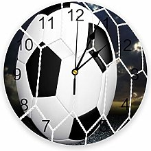 alicefen Football Football Game Wall Clock Kitchen