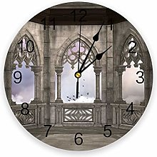 alicefen Gothic Retro Home Decoration Wall Clock